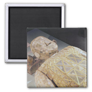 Jade burial suit 2 inch square magnet