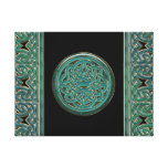 Jade Celtic Chains and Knot Canvas Print