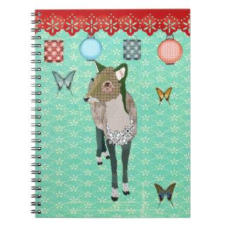 Jade Deer Turqoise Notebook