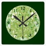 Jade Diamonds Wall Clock Square