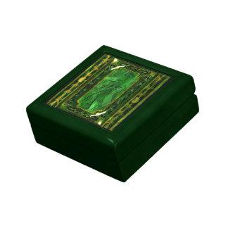 Jade elegante del verde del vintage del victorian cajas de joyas