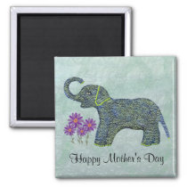 Jade Elephant Mother's Day Magnet
