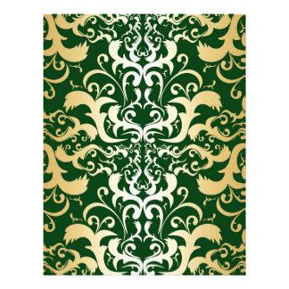 jade,faux gold,damasks,vintage,antique,pattern,chi letterhead