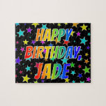 "[ Thumbnail: ""Jade"" First Name, Fun ""Happy Birthday"" Jigsaw Puzzle ]"