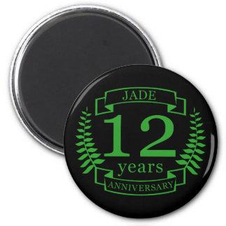 Jade Gemstone wedding anniversary 12 years Magnet