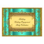 Jade Gold Birthday Wedding Engagement TEMPLATE Invites