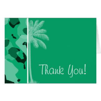 Jade Green Camo; Summer Palm Card