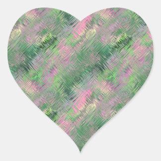 Jade Green Crystal Gel Pattern Heart Sticker