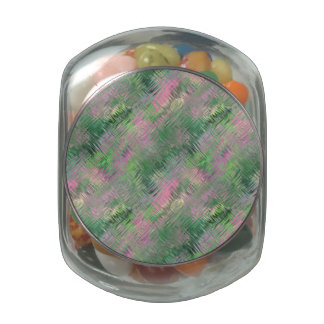 Jade Green Crystal Gel Pattern Jelly Belly Candy Jar
