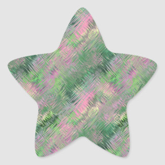 Jade Green Crystal Gel Pattern Star Sticker