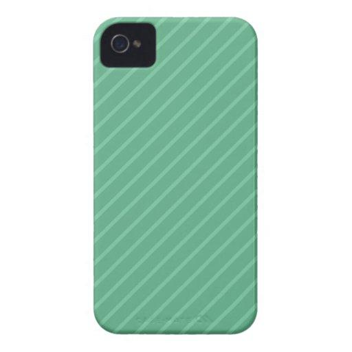 Jade Green Diagonal Stripes. Pattern. iPhone 4 Case-Mate Case