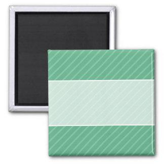 Jade Green Diagonal Stripes. Pattern. Magnet