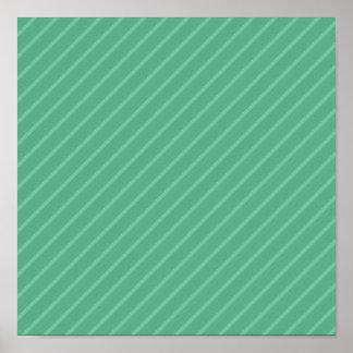 Jade Green Diagonal Stripes. Pattern. Print