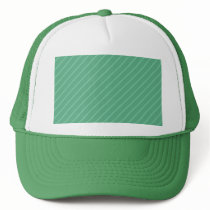 Jade Green Diagonal Stripes. Pattern. Trucker Hat