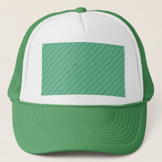 Jade Green Diagonal Stripes. Pattern. Trucker Hat