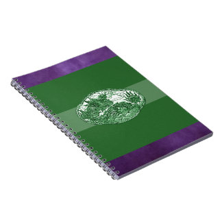 Jade Green Dragon Medallion Spiral Notebook