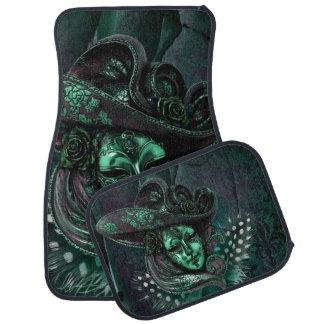 Jade Green Masquerade Carnival Mask Car Mats Car Mat