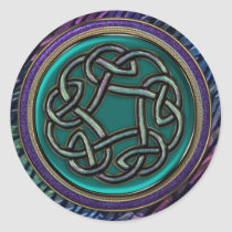 Jade Green Metal Celtic Knot
