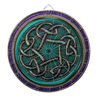 Jade Green Metal Celtic Knot Dartboards