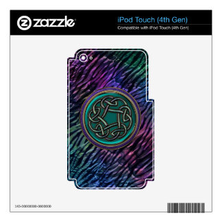 Jade Green Metal Celtic Knot iPod Touch 4G Skins