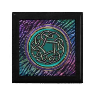 Jade Green Metal Celtic Knot Jewelry Box