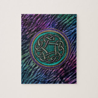 Jade Green Metal Celtic Knot Jigsaw Puzzle