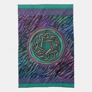 Jade Green Metal Celtic Knot Kitchen Towel