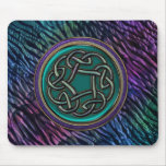 Jade Green Metal Celtic Knot Mouse Pad