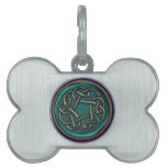 Jade Green Metal Celtic Knot Pet Tag