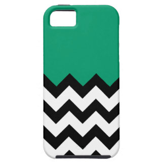 Jade Green On Large Zigzag Chevron iPhone 5 Cases