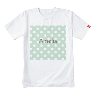 jade green,polka dot,white,cute,girly,trendy,fun zazzle HEART T-Shirt