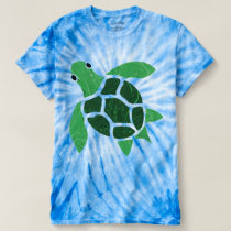Jade Green Sea Turtle Mosaic Artwork T-shirt