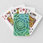 "Jade Green Succulent Playing Cards<br><div class=""desc"">Beautiful unique green succulent.</div>"
