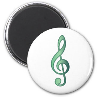 Jade Green Treble Clef Magnet