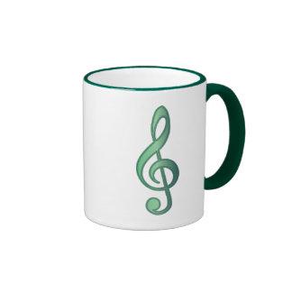 Jade Green Treble Clef Mug