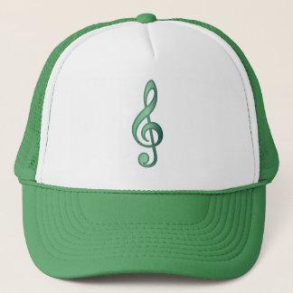 Jade Green Treble Clef Trucker Hat