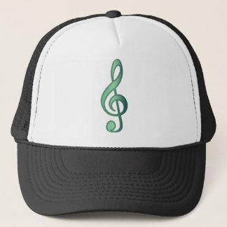 """Jade"" Green Treble Clef Trucker Hat"