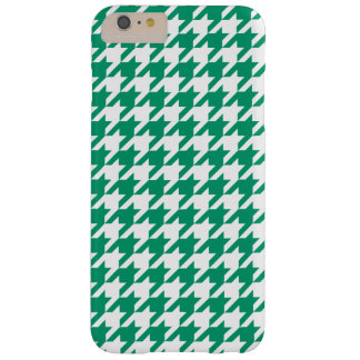 Jade Green White Houndstooth Pattern #2 Barely There iPhone 6 Plus Case