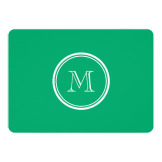 Jade High End Colored Personalized 5x7 Paper Invitation Card