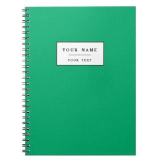 Jade High End Solid Colored Spiral Notebook