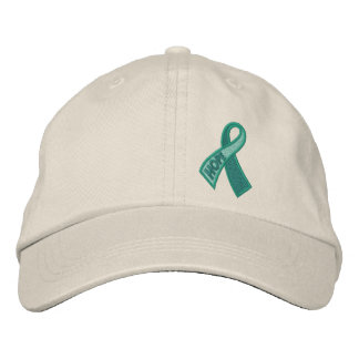 Jade Hope Cancer Ribbon Awareness Embroidered Baseball Hat