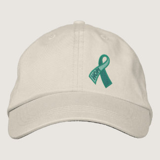 Jade Hope Cancer Ribbon Awareness Embroidered Baseball Hat