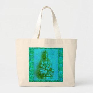 Jade Kwan Yin Tote Bags
