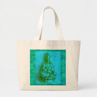 Jade Kwan Yin Jumbo Tote Bag
