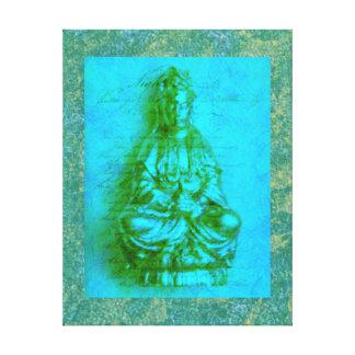 Jade Kwan Yin wrapped canvas print