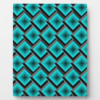 Jade Layered Diamonds Plaque