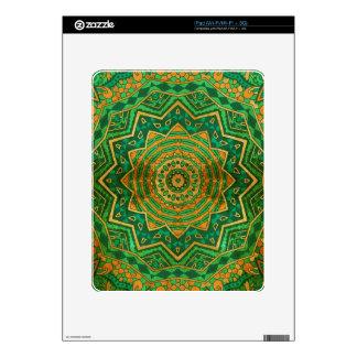 Jade mandala iPad skins