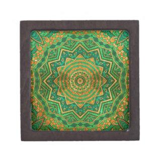 Jade mandala keepsake box