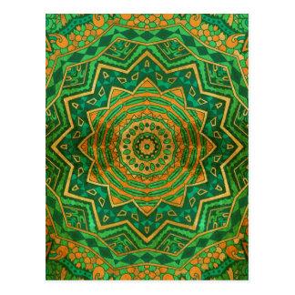 Jade mandala postcard