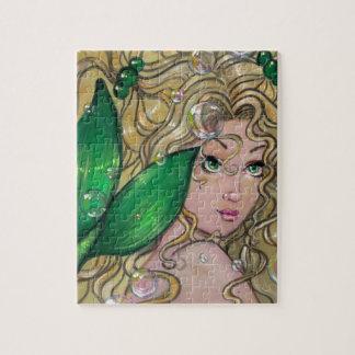 """""""Jade Mermaid"""" fantasy art PUZZLE by ronne"""
